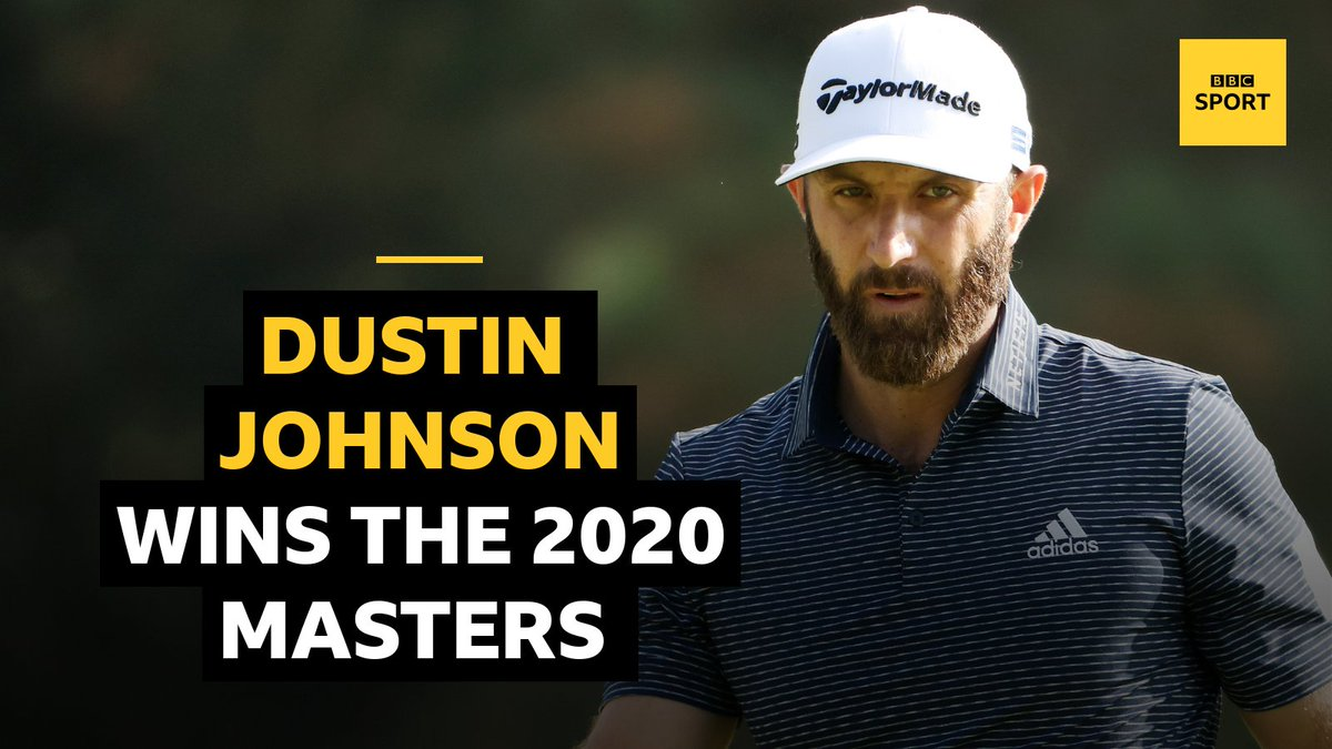 Dustin Johnson wins The Masters! 🎉🎉🎉  A stunning display to claim the green jacket with a record 20 under par! ⛳👏  📺 Highlights @BBCTwo at 22.20 GMT.  📲💻 Reaction: https://t.co/TvNGI62Rnu  #bbcgolf #TheMasters https://t.co/NA70VrUMxh
