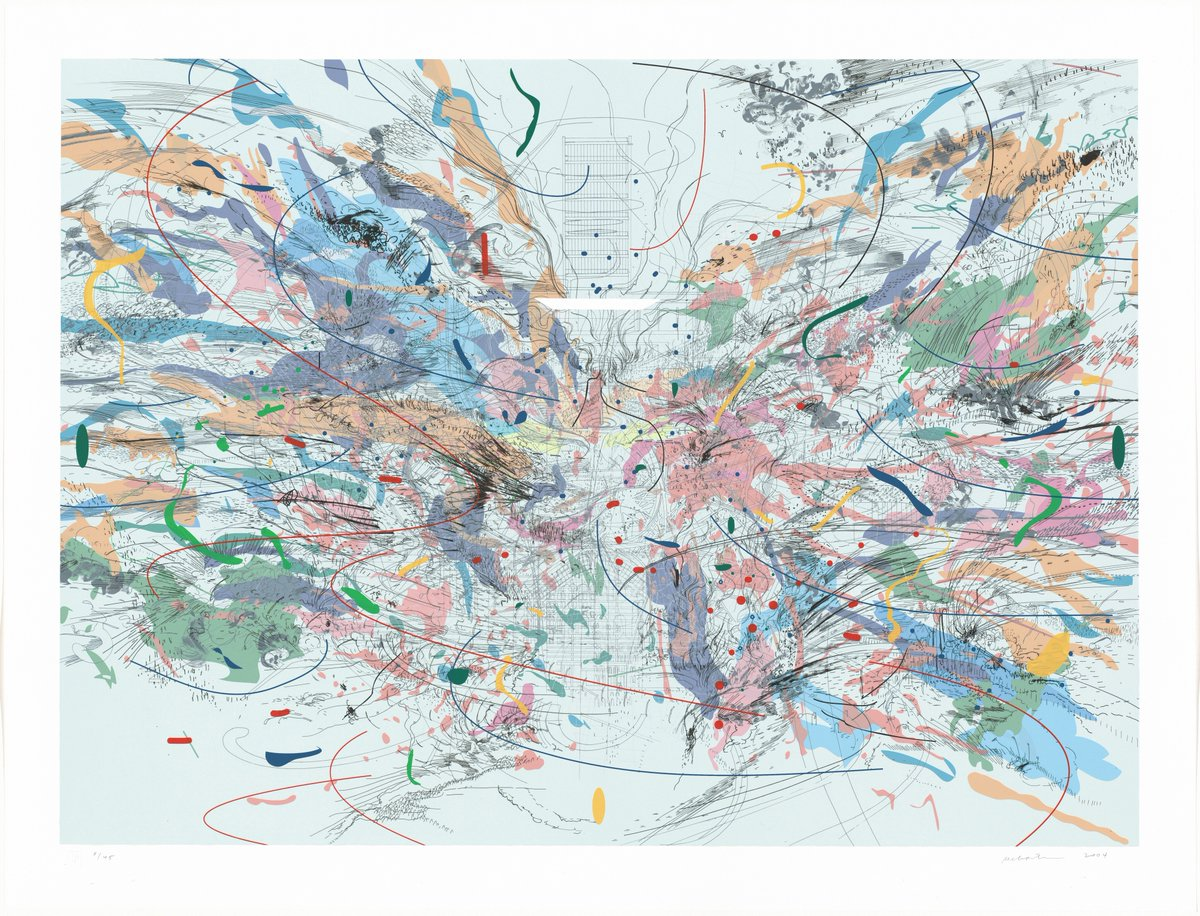 "Families—join us this week for a ""Virtual Artful Conversation."" We'll spend an hour looking at Julie Mehretu's ""Entropia (review)"" (2004) and exploring how it can inspire mindful movement with barre 3 14th Street's Alicia Sokol.  Register: https://t.co/Hru8QG75bQ https://t.co/jc0F43rUO4"