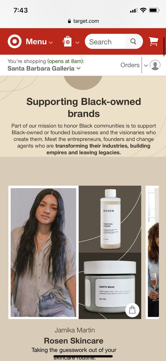 Replying to @jmaack: DID YOU SAY TARGET IS NOW CARRYING A YOUNG, BLACK WOMAN OWNED SKINCARE LINE???