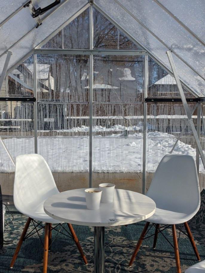We have several openings today! Text 847-668-2013 to reserve We factor in time to air out and sanitize between guests! #winterseating #greenhouse #igloo #northeastminneapolis #bestofnempls #womanownedsmallbusiness #womenmade #womenbartenders #nempls #nemplsartsdistrict