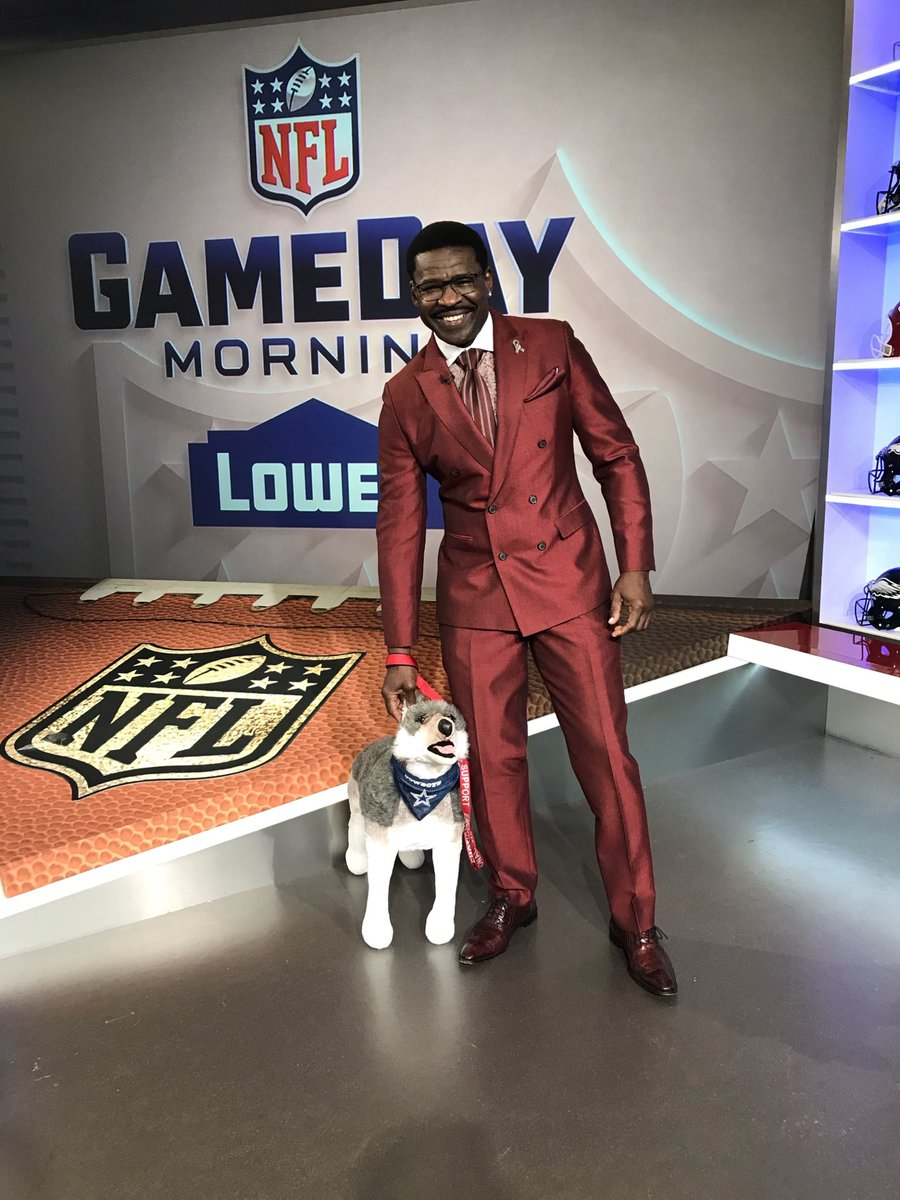 Champ and I are at peace today because we know the @dallascowboys is on a bye. So that's a win for us. Right????