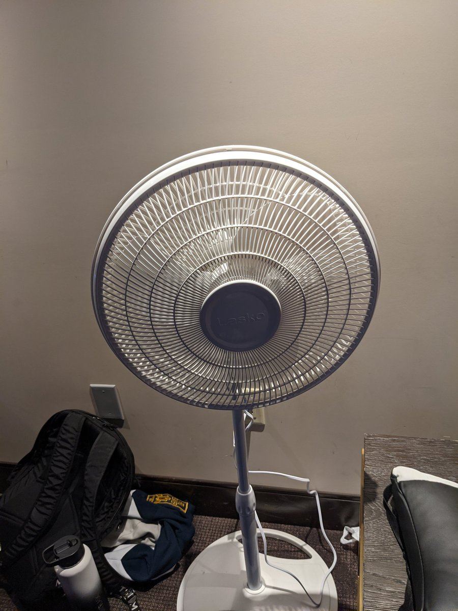 Pojoman - Since there is no fans allowed at the venue we brought our biggest fan from our house, give us strength and ample air flow.