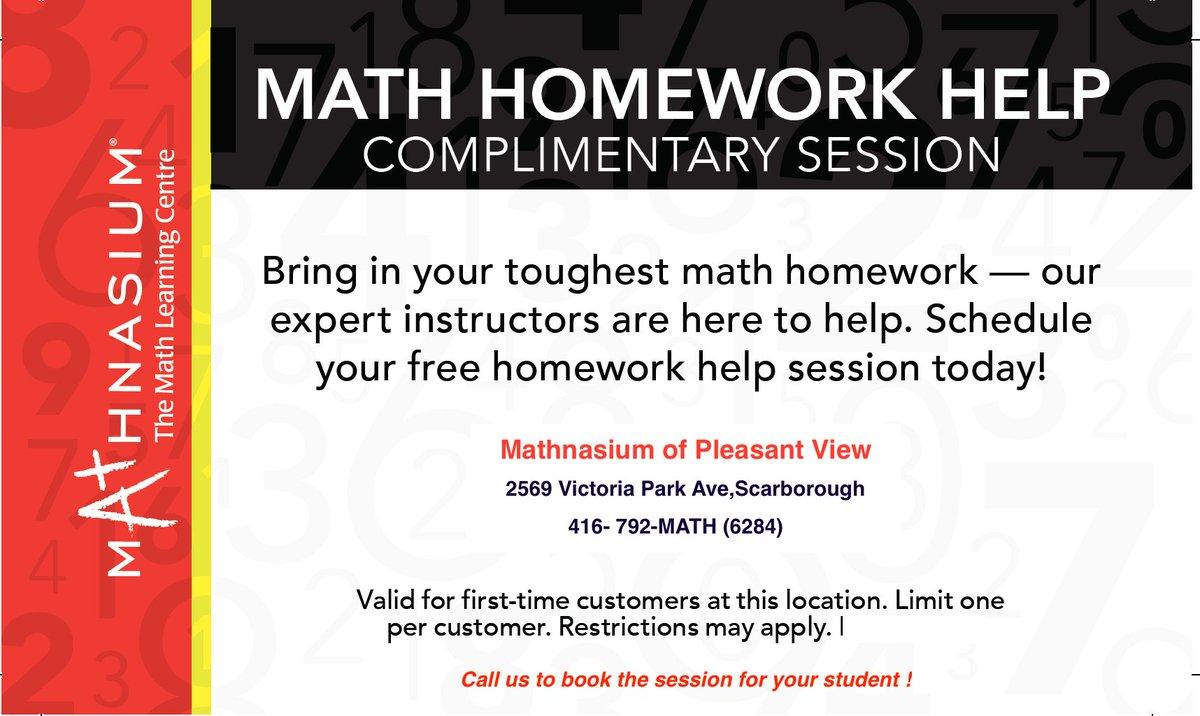 Struggling with your math homework? Come to us, #Mathnasiumofpleasantview, expert instructors are here to help!   #math  #mathforkids #mathtutoring #matheducation #education #mathnasium #torontomathtutoring #mathproblem #mathforchildren #mathhelp #homeworkhelp #mathematics https://t.co/mgNyok5BHc
