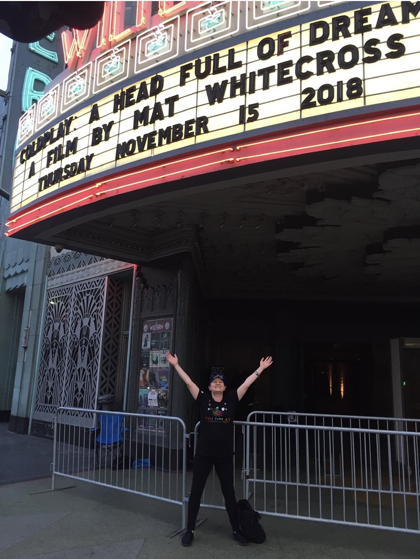2 Years Ago Today 🎥 🎬 🍿 11/15/2018  #AHFODfilm It Was Brilliant  @MatWhitecross 👏😀👏 #AHFODtour #Coldplay  @coldplay @wiltern