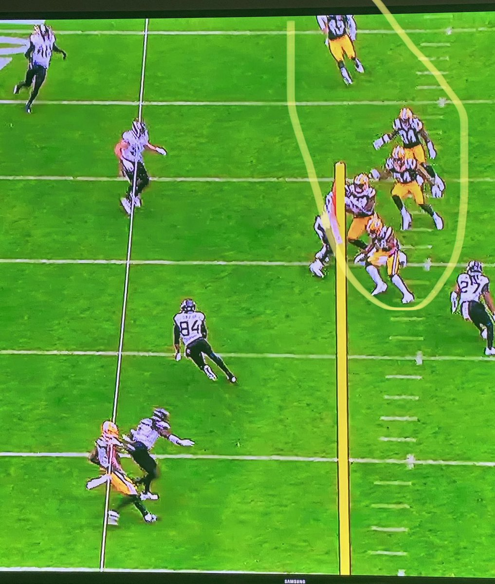 """""""He outkicked his coverage"""" is such a lazy way to blame the punter and not explain the coverage team's responsibilities..  Now should JK Scott have hit it that low and far? No.. but see also  🗣🗣 5 GUYS COVERING THE SAME EXACT LANE  They should look like a net.. """"Lane integrity"""""""