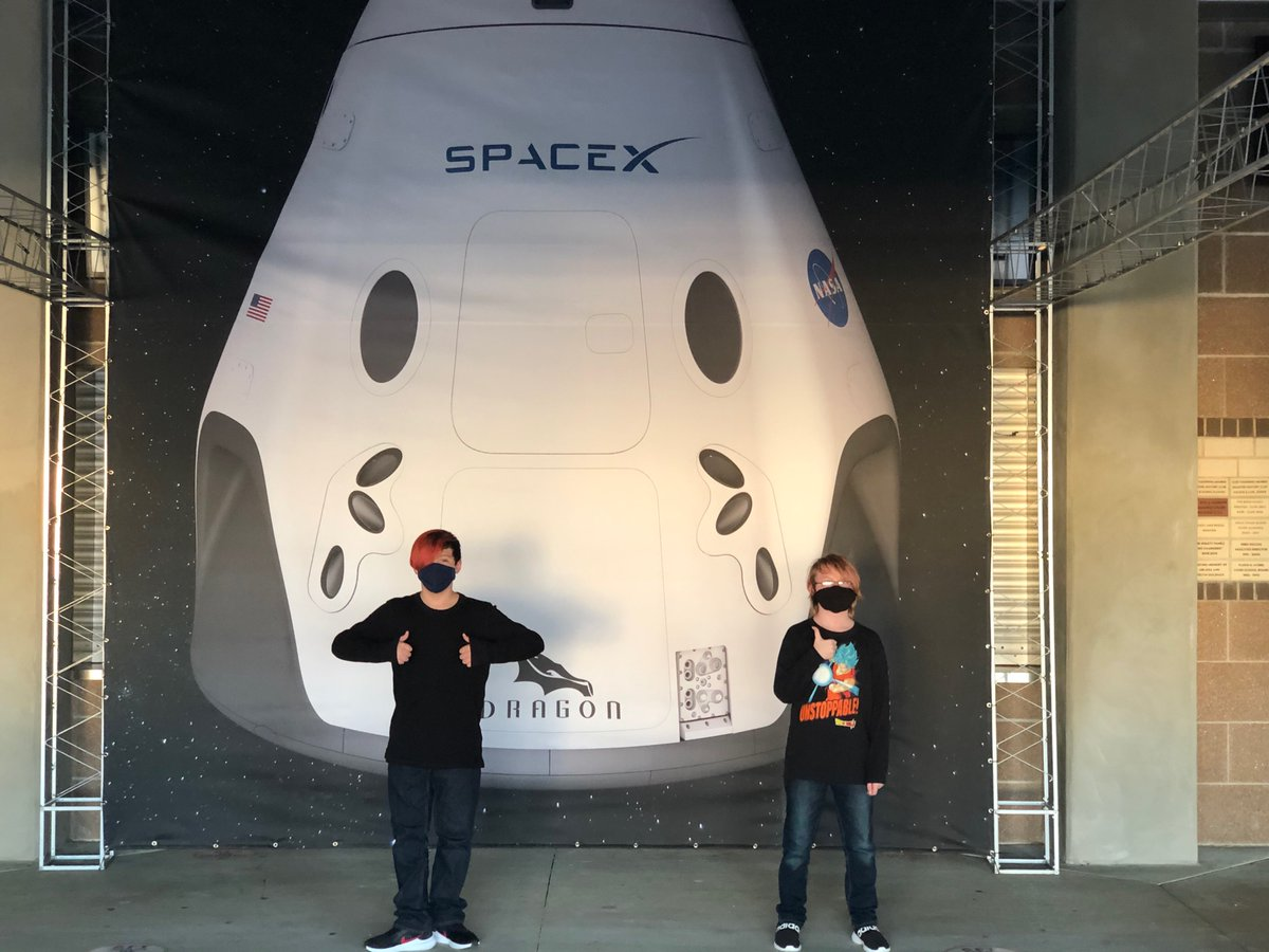 At a inimical launch presentation with sides Space Center! #LaunchAmerica  via @mirandafox_2