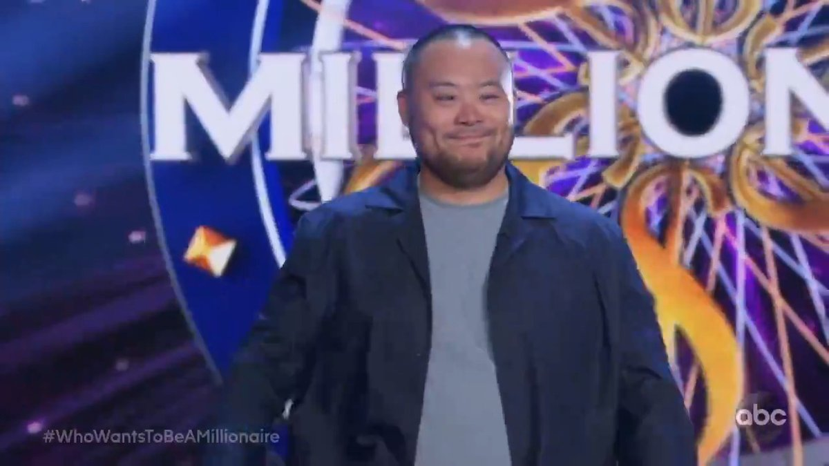 #WhoWantsToBeAMillionaire TONIGHT with Chef @DavidChang playing for his charity @SouthernSmokeTX and frontline worker Rorri Burton playing for ONE MILLION DOLLARS! 9|8c on ABC