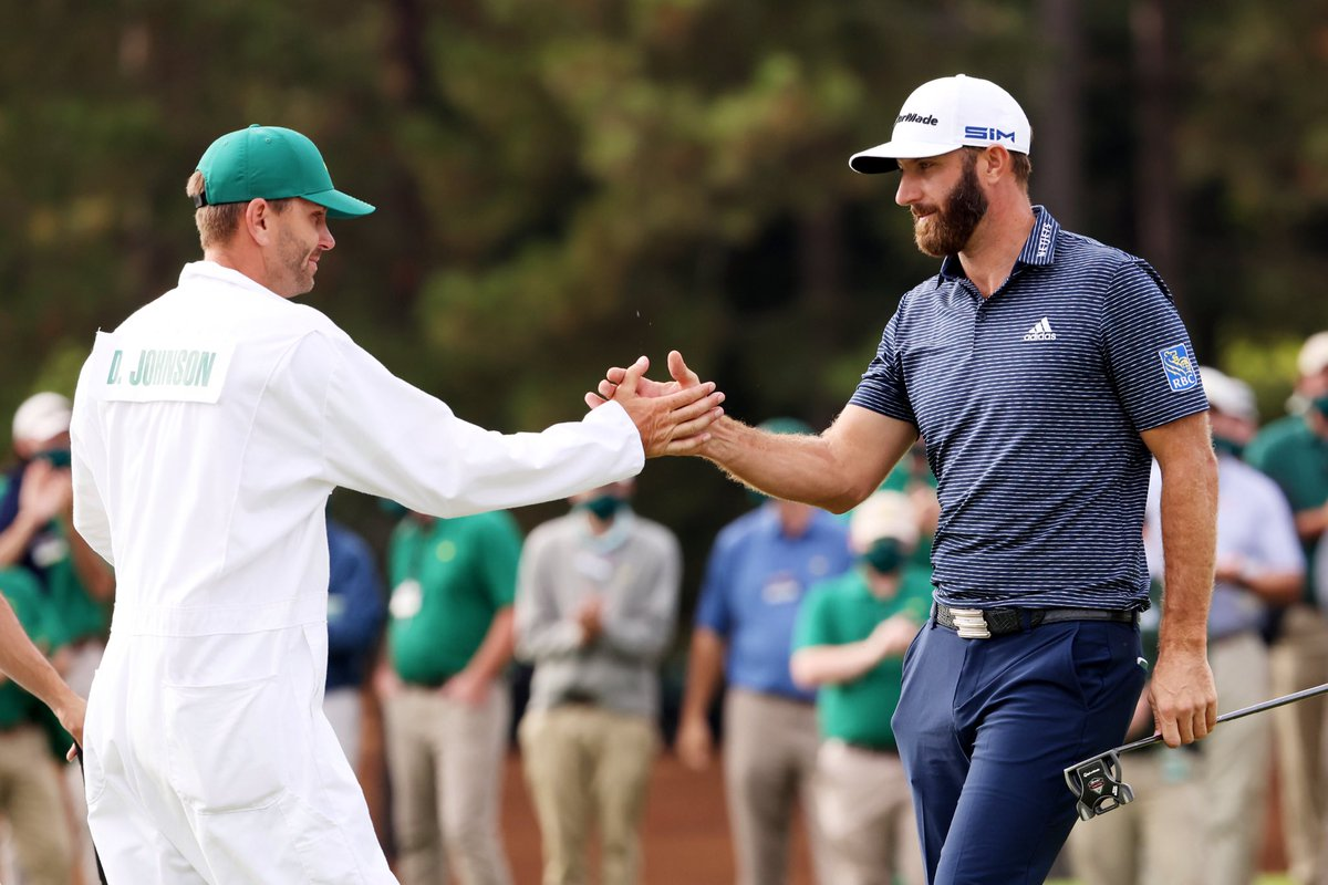 Every opportunity seized.  A pair unlike any other, and today @DJohnsonPGA is a Masters Champion. Here's to your second major DJ, and no ceiling to what comes next.  #TheMasters