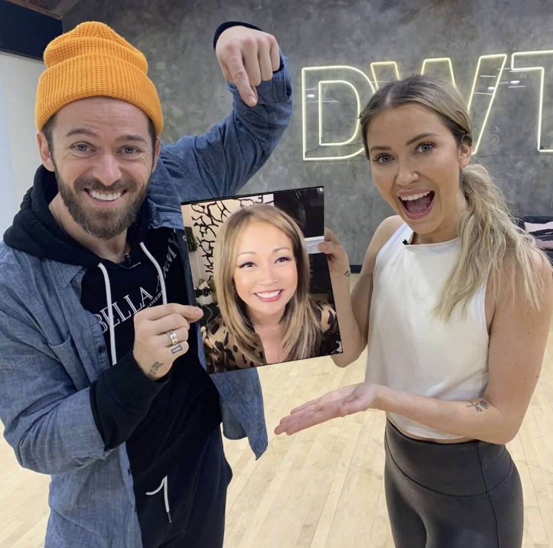 And I also worked with these two! We had a great time! Even though I had to do it from home. #fluseason @DancingABC @artemchigvintse @kaitlynbristowe