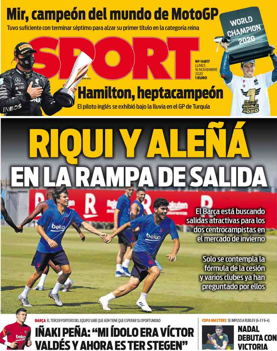 Footballespana On Twitter Monday S Front Page Headlines From Marca Diario Sport And Mundo Deportivo In English Https T Co Idsujgwere