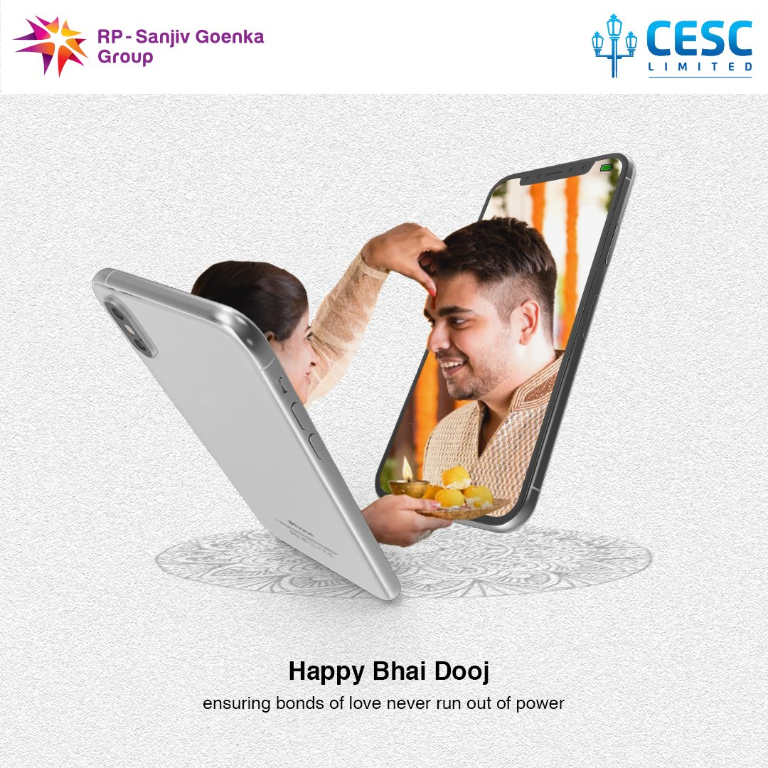Let's celebrate the bond of love and trust between two souls united by the purest form of friendship. Happy Bhai Dooj.❤️ #CESC #CESClimited #bhaidooj #diwali #bhaidoojspecial #bhai #bhaitika #bhaibhai #bhailog #bhaidoojgifts #bhaidoojcelebration #bhaii #happybhaidooj https://t.co/z1AhI0ydY8