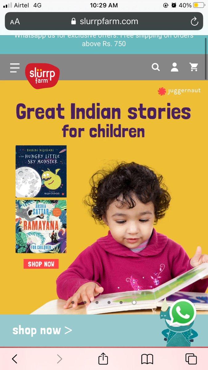 Replying to @Chikisarkar: @juggernautbooks now on @SlurrpFarm! Hooray!