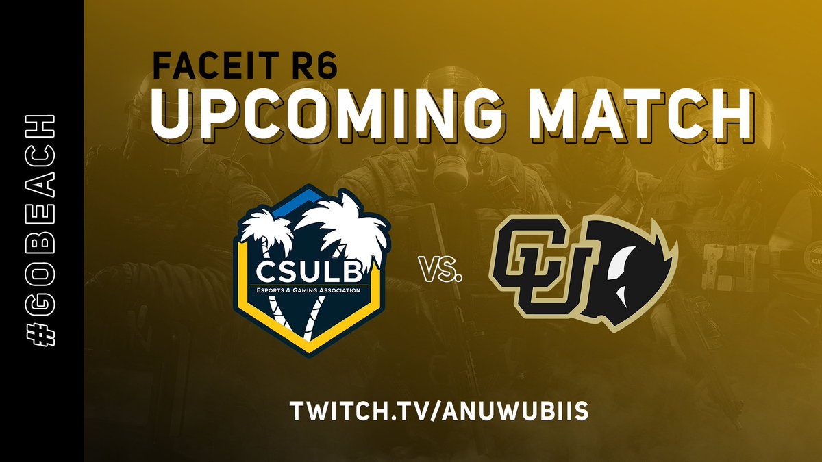 CSULB - The @FACEITCollege quarterfinals are up next for our Rainbow Six squad!  We take on @BoulderEsports right now 💪  🟡