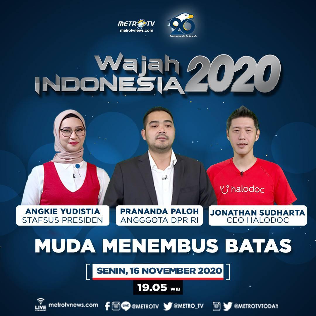 Melihat peluang generasi muda di dunia politik dan tantangan serta kesempatan start-up di masa depan untuk milenial di #WAJAHINDONESIAMETROTV hari Senin (16/11) pukul 19.05 WIB di Metro TV. #MetroTV20 #WajahIndonesia #TerimaKasihIndonesia