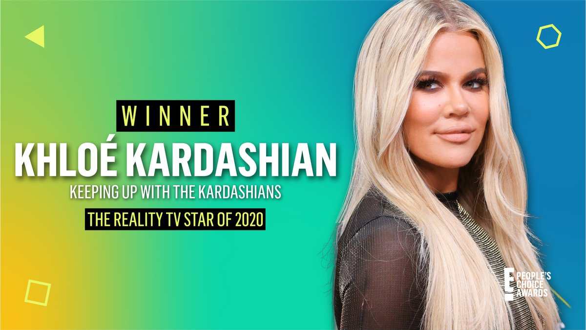 Our kween Koko took home the @PeoplesChoice Award for #TheRealityStar of 2020! 😍 Congrats, @KhloeKardashian! #PCAs https://t.co/Wn2d6JfbNG