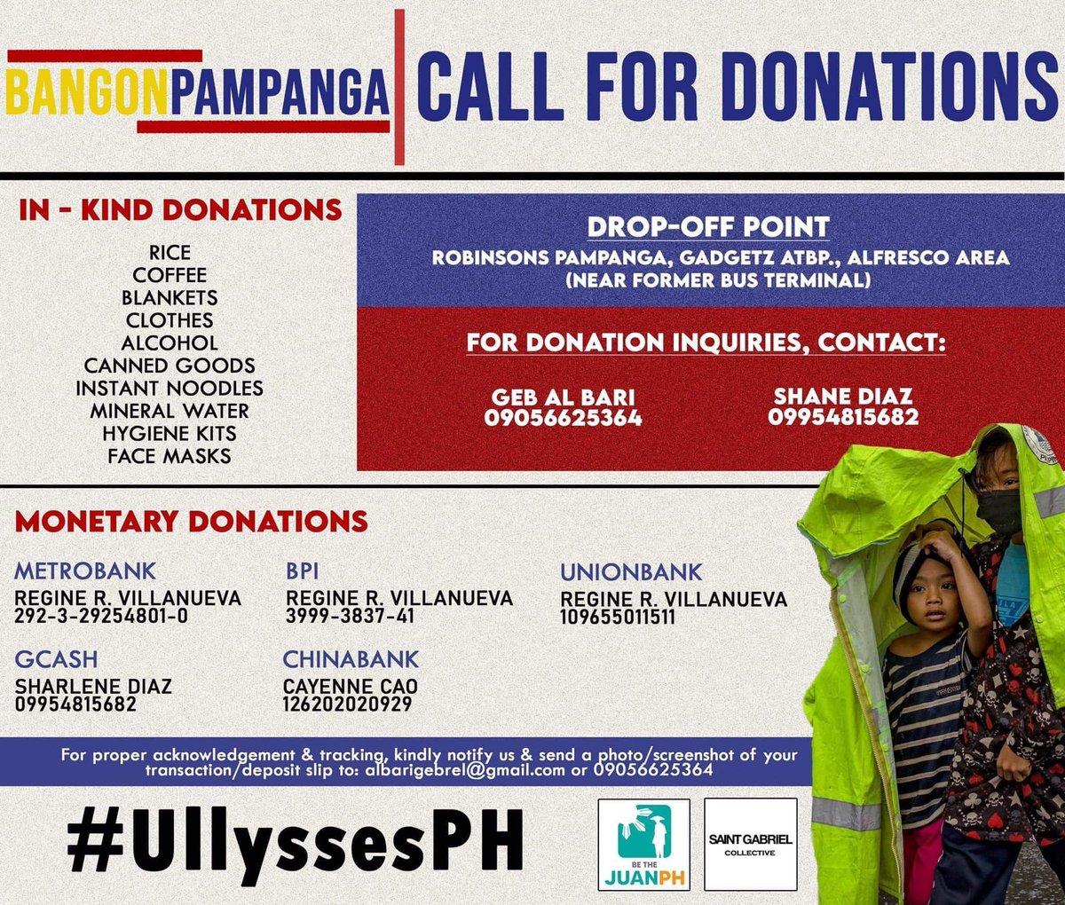 Bangon Pampanga #TyphoonUlysses