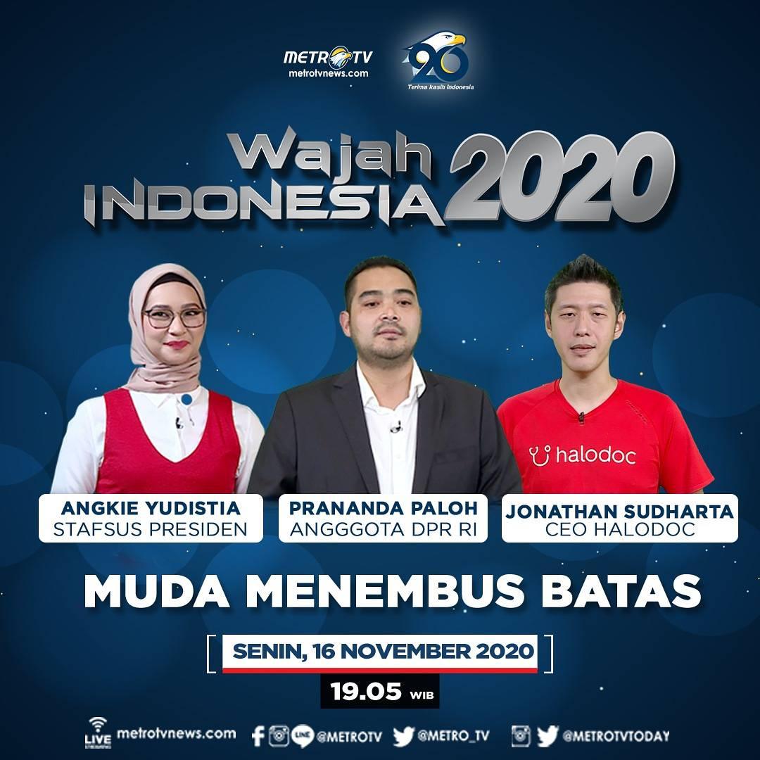 """Optimisme dari sosok muda Indonesia membawa perubahan terutama membangun Indonesia, bagaimana anak muda menembus batas dari sisi politik, keterbatasan dan bisnis untuk menjadi kebanggaan Indonesia? #WAJAHINDONESIAMETROTV """"Muda Menembus Batas"""" hari Senin (16/11) pukul 19.05 WIB."""