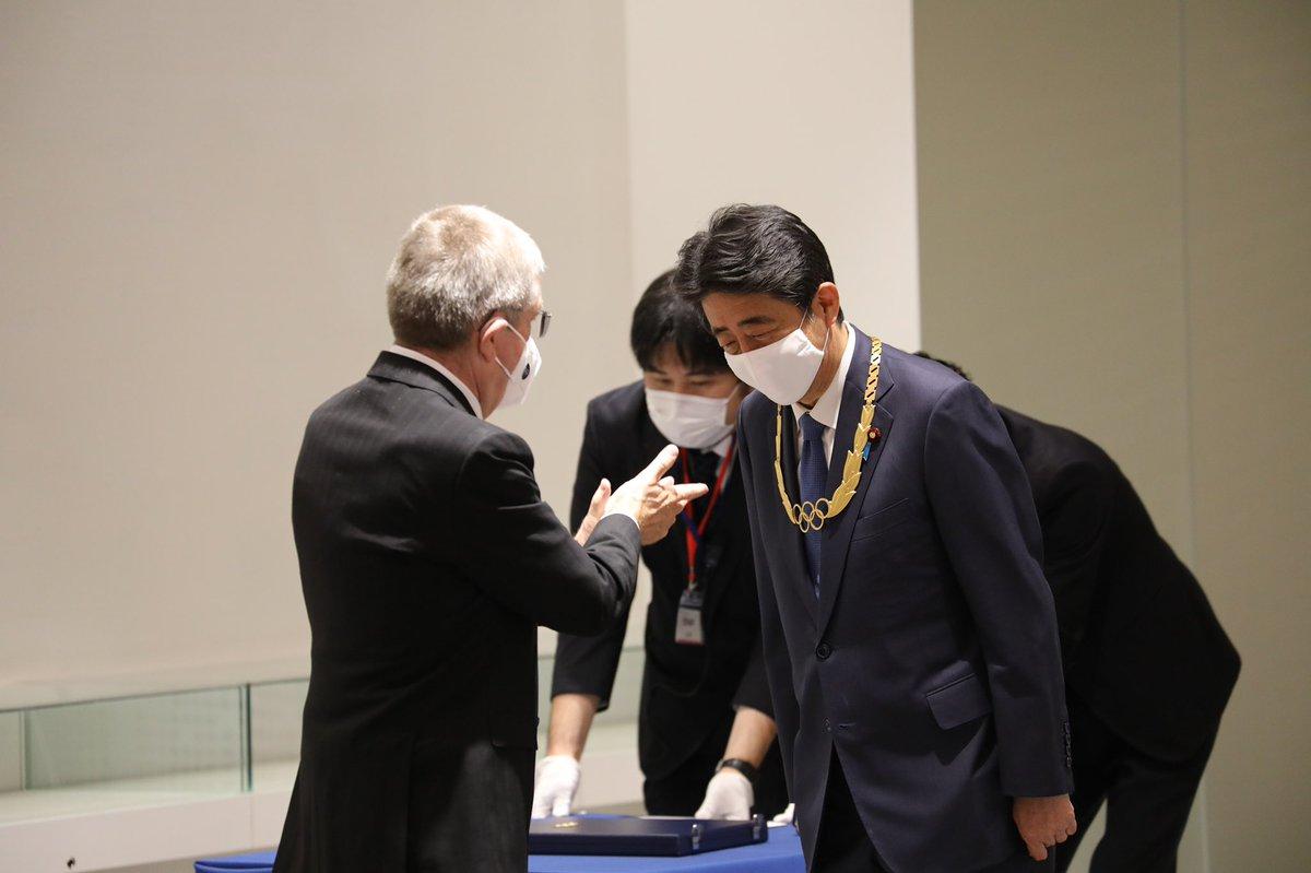 本日IOCトーマス・バッハ会長よりオリンピック・オーダーの最高章にあたる金章をいただきました。