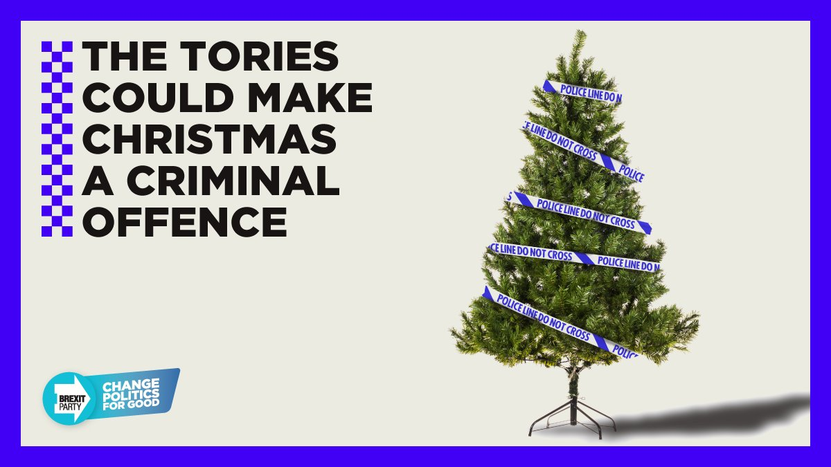 Christmas is an important time for families to get together. But under rules about numbers and households mixing indoors, gathering with your own family at Christmas could be a criminal offence. Is this really what you voted for? Get involved 👉 thebrexitparty.org/reformuk