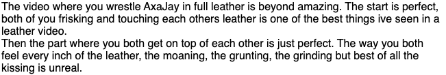 A man that appreciates both leather and a very very thorough frisking is A VERY INTELLIGENT MAN #leather #trib #SOS0224