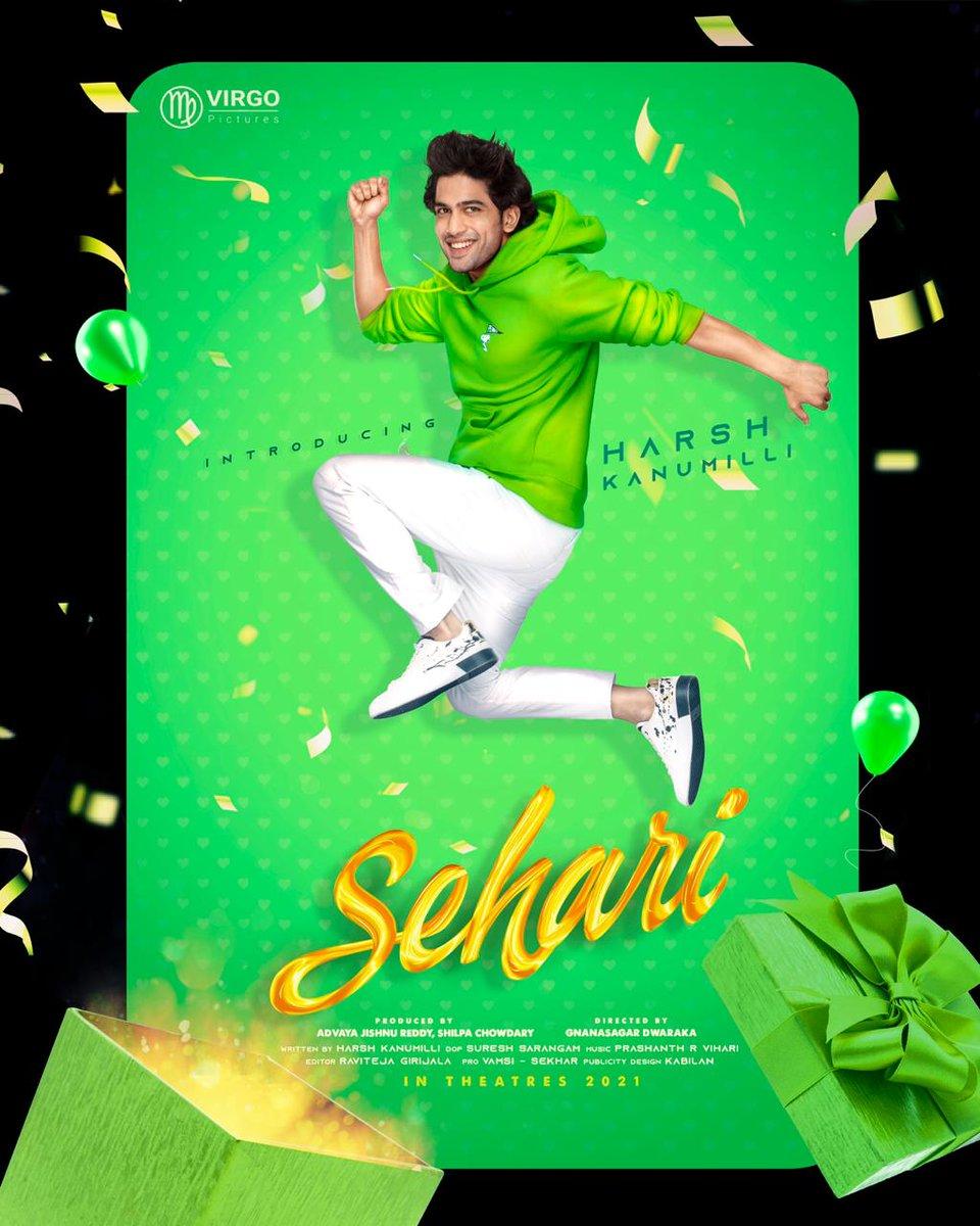 #NandamuriBalakrishna unveils first look of #Telugu film #Sehari  Stars @HarshKanumilli and @SimranCOfficial ! The rom-com marks the directorial debut of ad filmmaker @gnanasagardwara !! Produced by #AdvayaJishnuReddy & @chow_shilpa!!!!  #Sidk #SiddharthKannan #SehariFirstLook