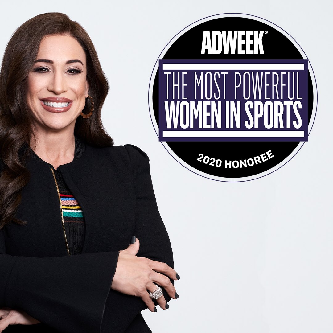 #TheMostPowerfulWomenInSportsWhat a list and what an honor to be identified with these brilliantly talented peers who are shaping the sports industry in powerful ways. Thank you @adweek for recognizing and honoring all of our efforts.
