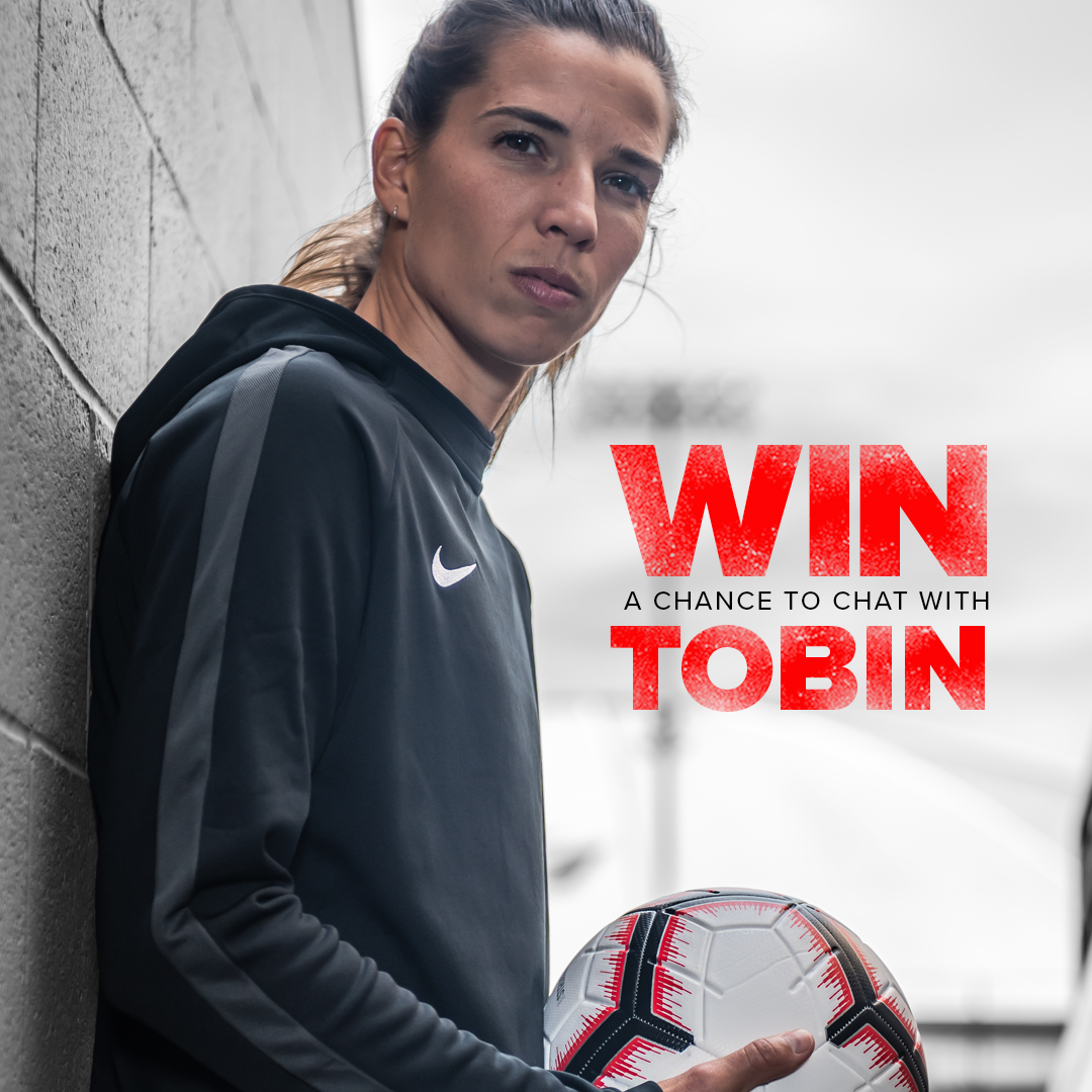This is one call you won't want to miss.  WIN a chance to video chat with our favorite soccer star @TobinHeath!  Enter here: