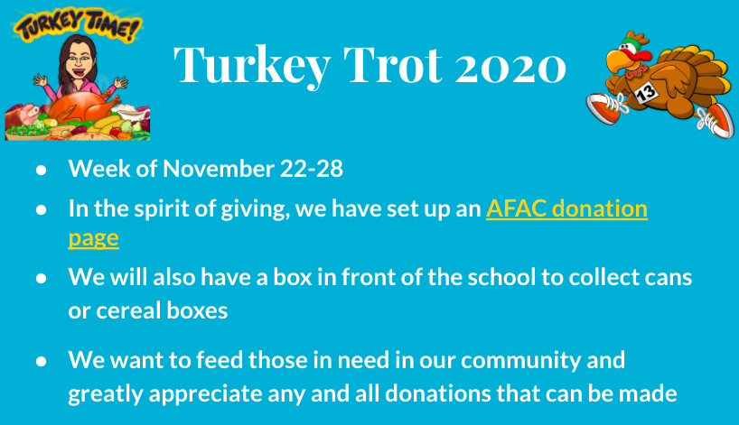 Join us next week virtually as we compete in our annual Turkey Trot! <a target='_blank' href='https://t.co/IfbgDDEtUj'>https://t.co/IfbgDDEtUj</a>