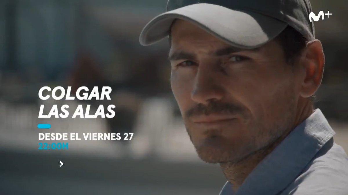 Si @RafaelNadal, Xavi, Valdano, @andresiniesta8, Zidane, Robben, @3gerardpique, @Carles5puyol y Mourinho salen en tu serie, es que eres muy grande. @IkerCasillas, desde el viernes 27 en #ColgarLasAlas