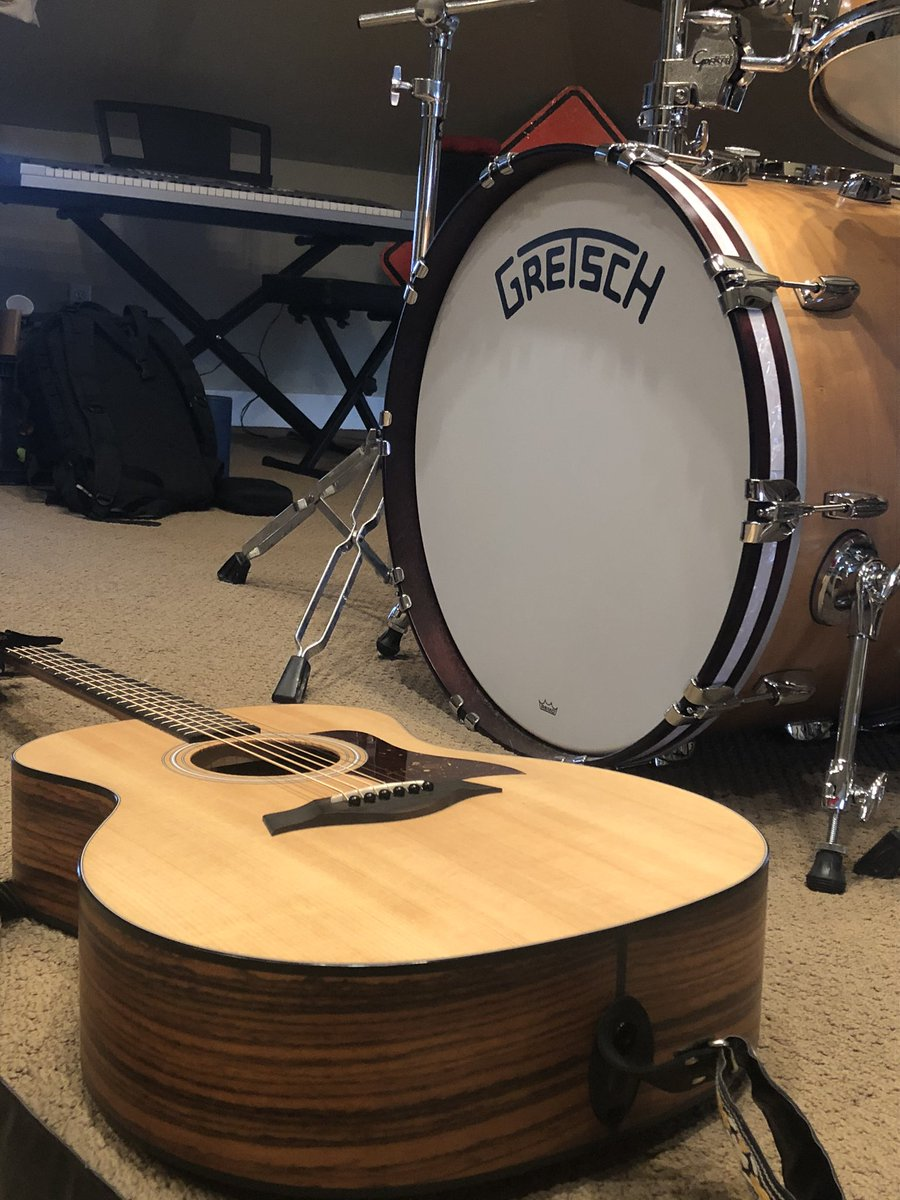 The beginning stages of an album. #gretschdrums #taylorguitars https://t.co/iLEONMQDTD