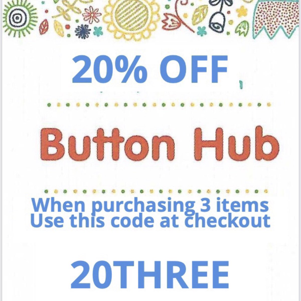 🥳National Button Day everyone so buy 3 packs of buttons and get 20% off, use code 20THREE at the checkout 🥳  #nationalbuttonday #NationalButtonDay #button #ButtonDay #buttons #MondayMotivation