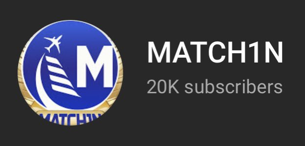 MATCH1N - Just hit 20k subs on YouTube! The grind is real and it's been a fun journey so far. Thank you so much!