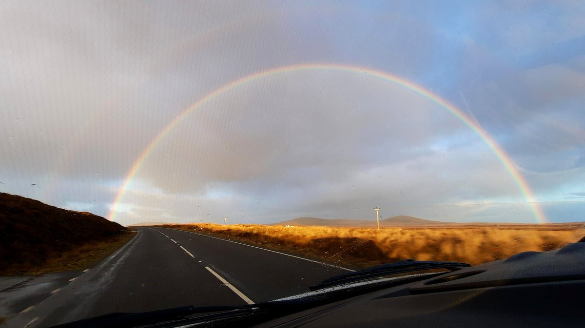 Beautiful view on my way to work 🌈 #NorthUist #OuterHebrides