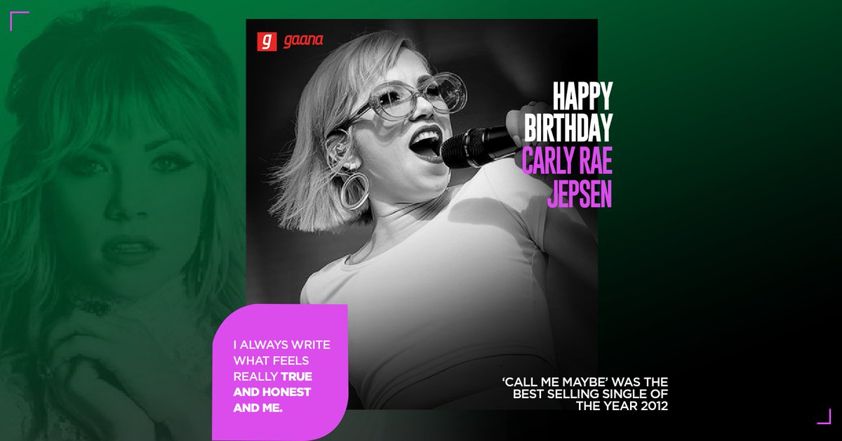 'No Drug Like Me' she said, are couldn't argue. Wishing the powerhouse singer @carlyraejepsen a very Happy Birthday!   #HappyBirthdayCarlyRaeJepsen
