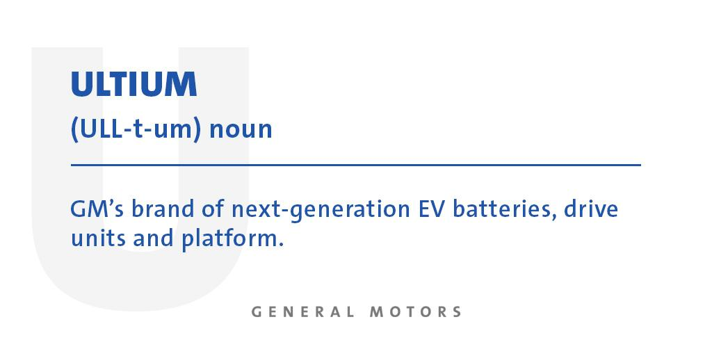 Used in a sentence: Our Ultium battery cells can be arranged to meet the unique needs of every customer and vehicle type with excellent power and range. Learn the language of our all-electric future with the help of our new EV Glossary: s.gm.com/p2mhh