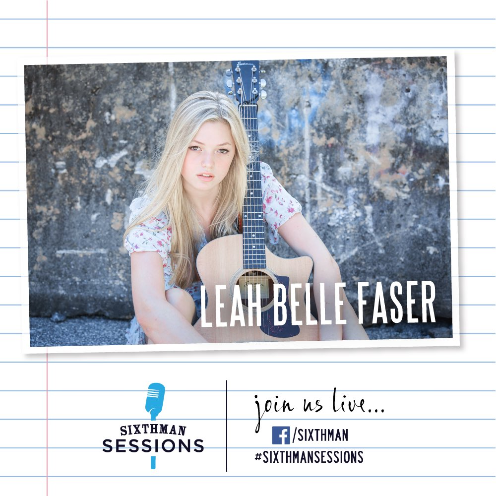 Hi friends! Join us LIVE this evening at 6PM ET for #SixthmanSessions with @leahbellefaser! ❤️🎶 #SXMsessions Tune In: facebook.com/sixthman/live RSVP: sixthmansessions.com/calendar Catch Up: sixthmansessions.com/micasasucasa Newsletter: sixthmansessions.com/newsletter