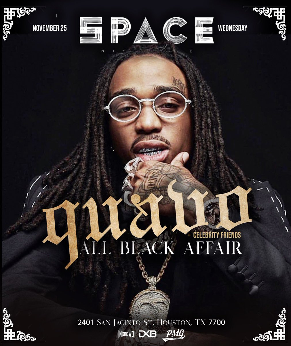 Huncho Houston All Black Drip 🤞🏾 Houston TX, Wednesday November 25th it's the ALL BLACK Huncho takeover @spacehou, meet me there. Tickets available at hunchodayhouston.com @ej_premier @the_investmentspecialist movie time