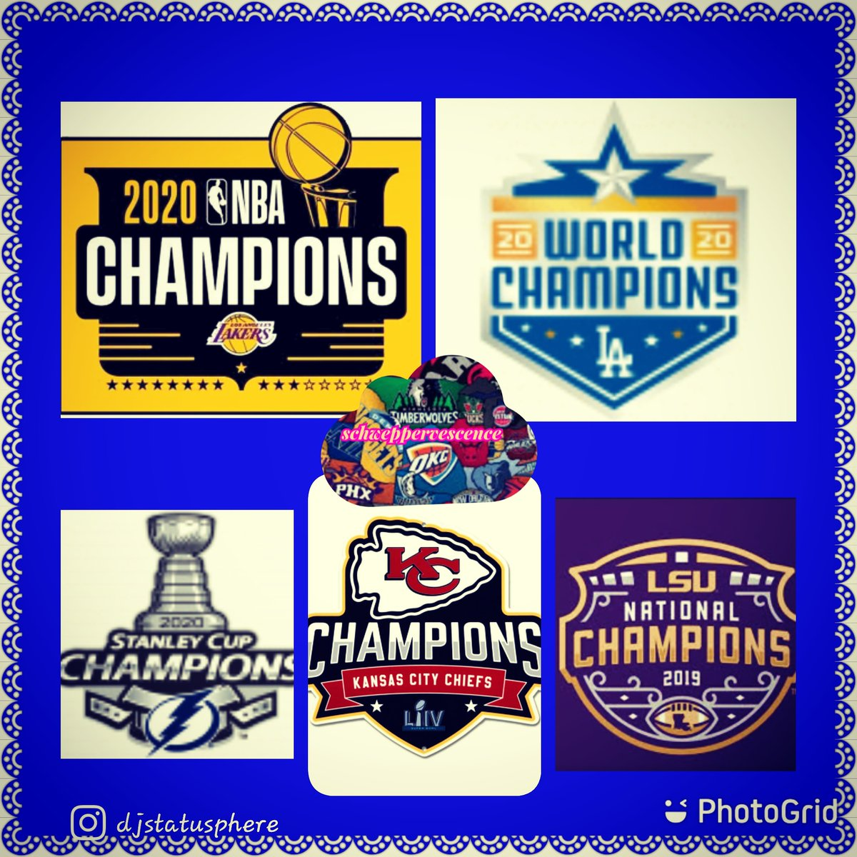 2020 Champions All sports !!!! @lsufootball  @lakers  @dodgers  @tblightning  @chiefs  !!! #djstatusphere  #louscannon  #schweppervescence  #hiphop  #football #basketball  #baseball #lsufootball  #lakers