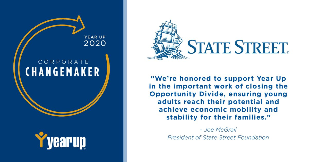 Through its Boston Workforce Investment Network, @StateStreet has partnered with 5 nonprofit organizations, including @YearUp, to help prepare Boston youth for the workforce. https://t.co/a2CmEVzZWY