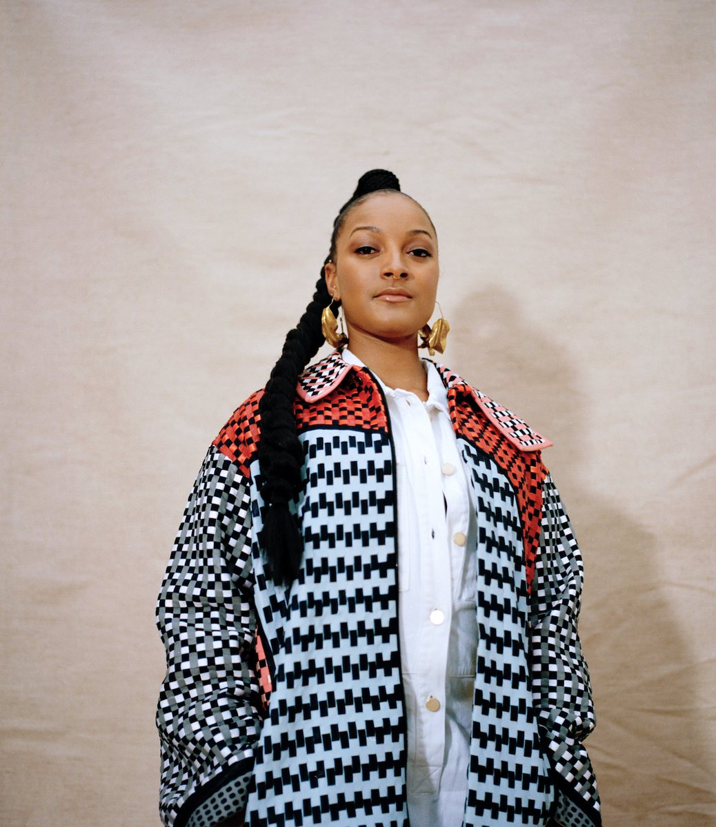 Thank you all so much for the love for @MakayaMcCraven 's remix of Source..   Listen here ➡️   📸 @AdamaJalloh_  Stylist - Cynthia Lawrence John  Hair - @laurainebailey  MUA - Francesca Daniella