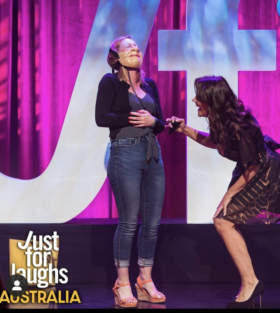 Tonight's the premiere of #justforlaughs on Channel 10 in Australia at 930