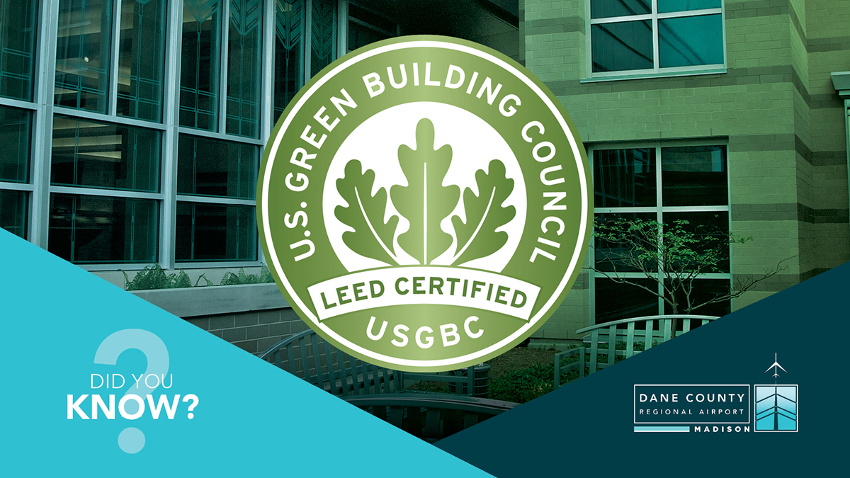 Did you know MSN's airfield maintenance building and the parking exit plaza are both LEED certified?! They're part of 40 buildings in Madison to have Leadership in Energy and Environmental Design certifications. Learn more:   #MSNAirport #LEEDcertified