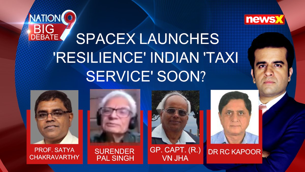 #ResilienceSpaceX2020 | SpaceX launched 4 astronauts to the International Space Station on the first full-fledged taxi flight for NASA. . . . Watch the whole discussion on #NewsX Youtube.   @drjhavn1 @iitmadras  @UdayPratapSingh