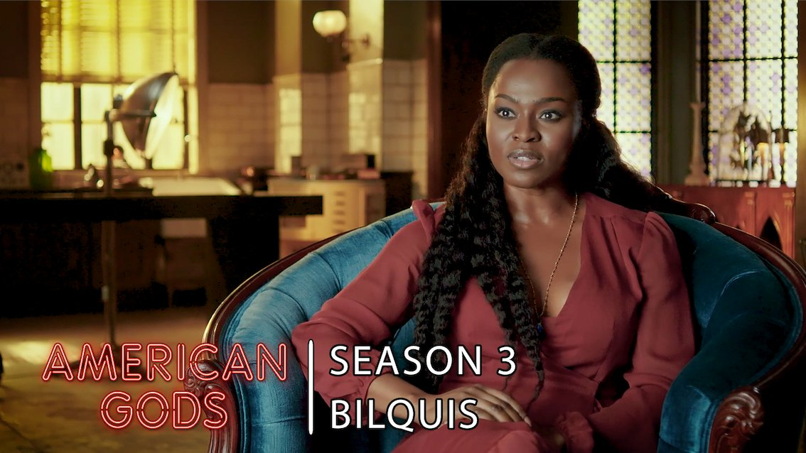 Soooo @YetideBadaki continued to blow me away this season,loved loved loved getting to see more shadow and bilquis scenes ❤️💪🏾🙏🏾🙌🏾🔥 this queen 👸🏿 RT @AmGodsIntl: Join Bilquis on her journey of self-discovery... ❤️  #AmericanGods #Season3