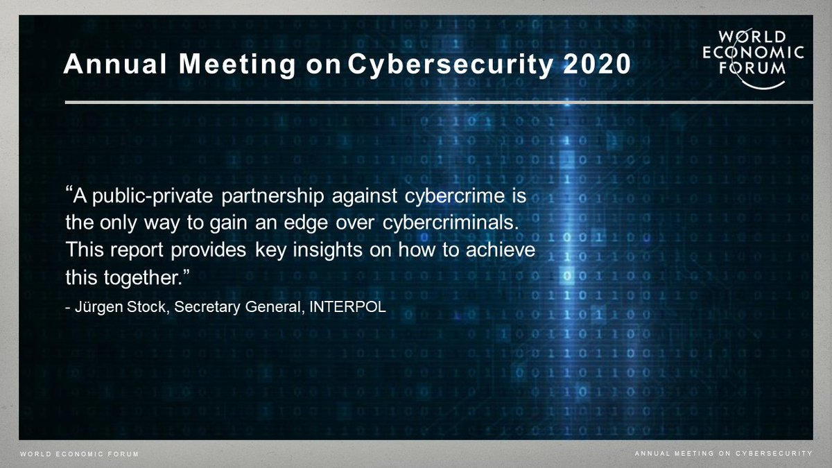 Today, the Partnership Against Cybercrime Working Group released their recommendations for first steps towards establishing a global architecture for cooperation  #WEFCyber20 @nayiabarmpaliou @CyAlliancePrez @INTERPOL_SG