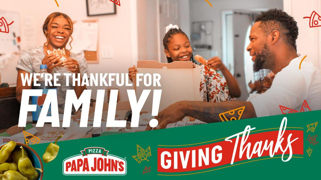 'Tis the season for celebrating with family, whether at home or over the phone. Tell us about a family member you're grateful for and they could receive a free pizza on us!