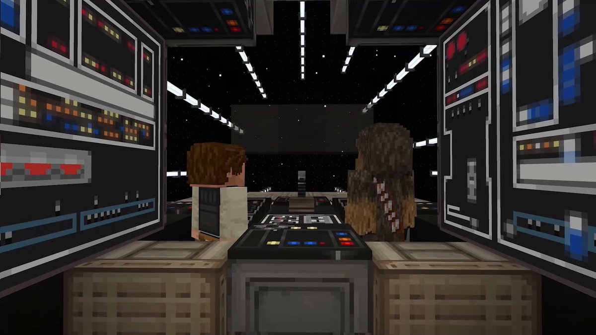 Chewie, we're home! The official Minecraft Star Wars DLC has landed in the Marketplace, bringing you skins, maps, mobs and more from the Original Trilogy films and #TheMandalorian!   So jump into hyperspace and get the DLC today:  ↣  ↢
