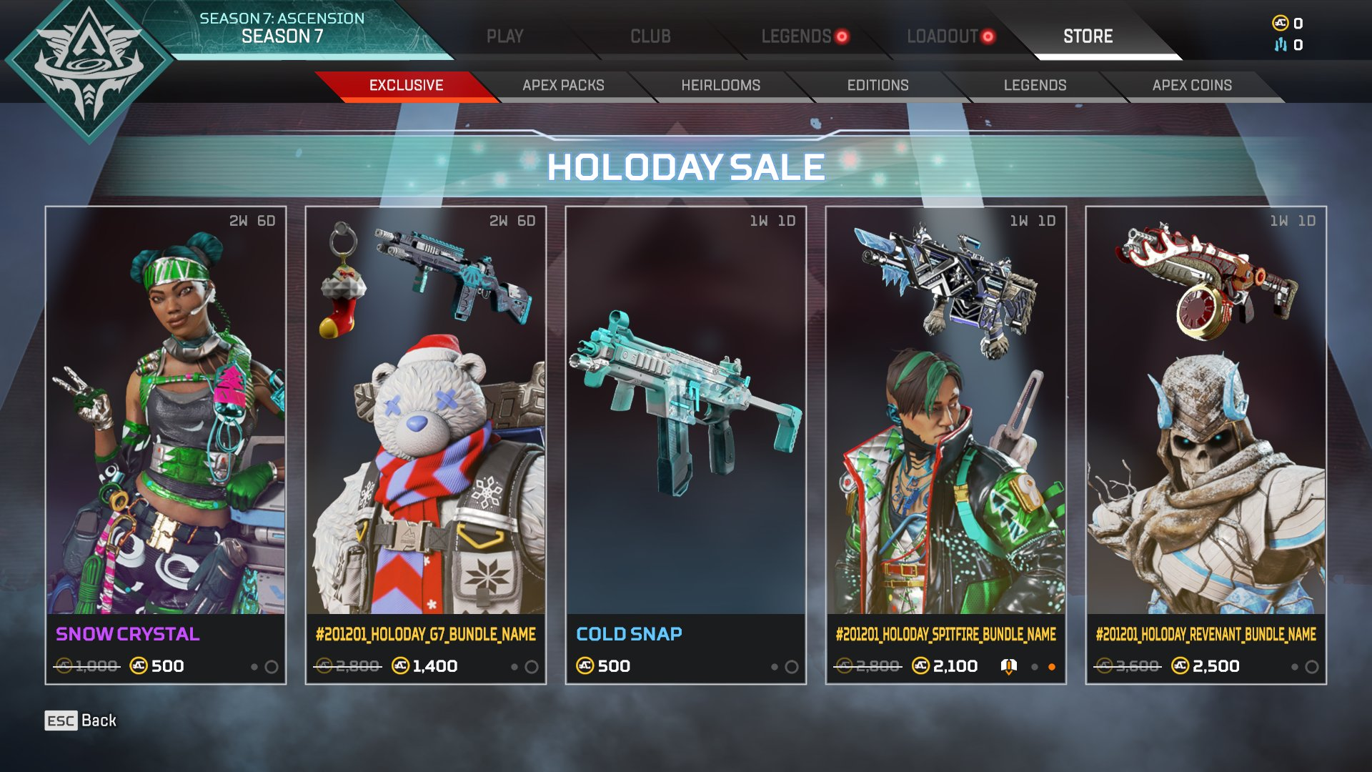 Holo-Days 2020 bundles price: