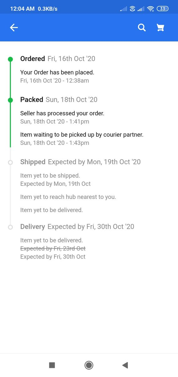 @Flipkart Why the hell are you asking me to cancel an order placed during #bigbilliondays #bigdiwalisale   Per order status, item waiting to be picked up by courier partner.  Seems fake order status. Who the hell is CEO of #Flipkart   #flipkart2020scam