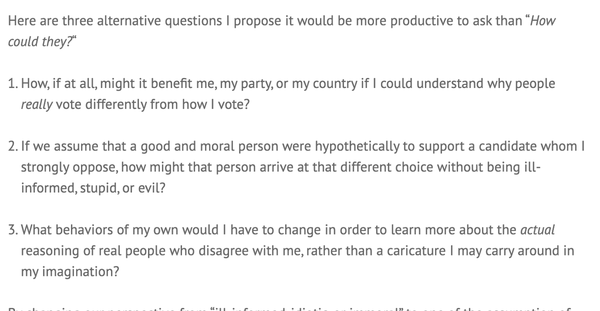 The three questions from @LMusher: